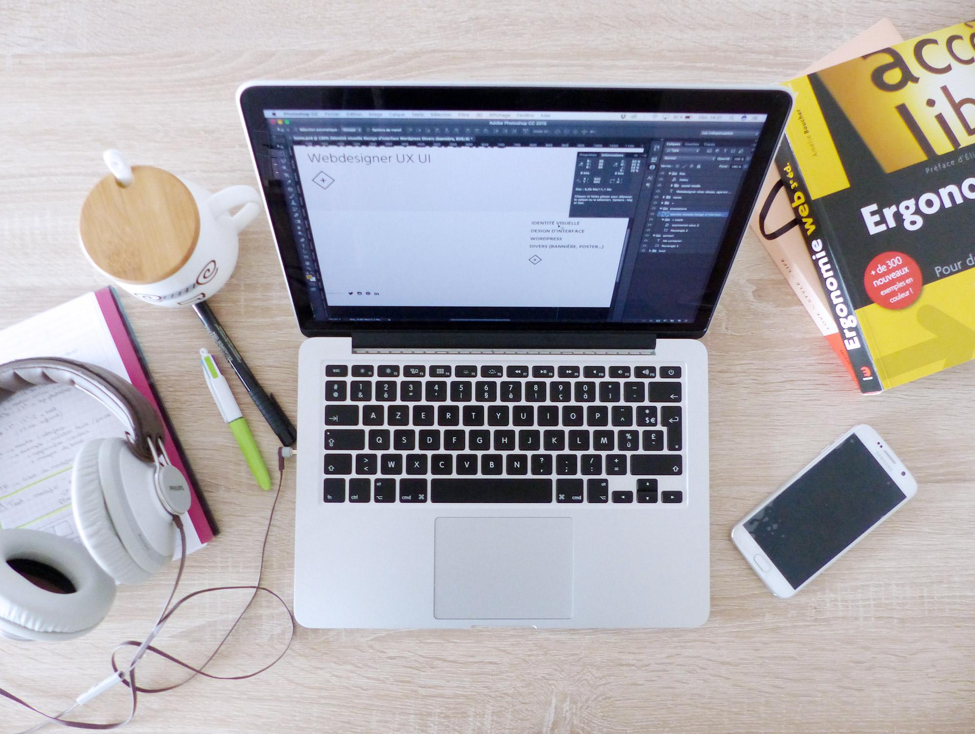 Autour de marine - Journée type Webdesigner
