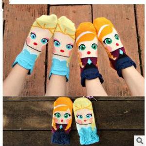 Aliexpress chaussettes reines des neiges, Elsa et Anna - Autour de Marine
