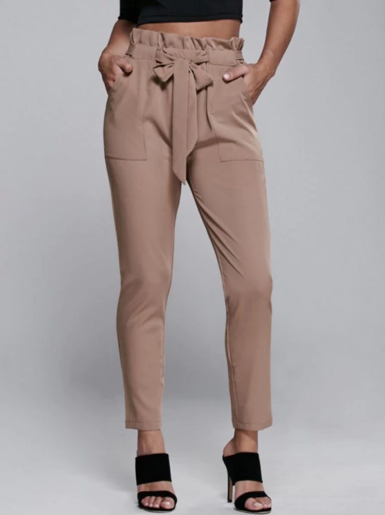 Pantalon taille haute Zaful - Autour de Marine