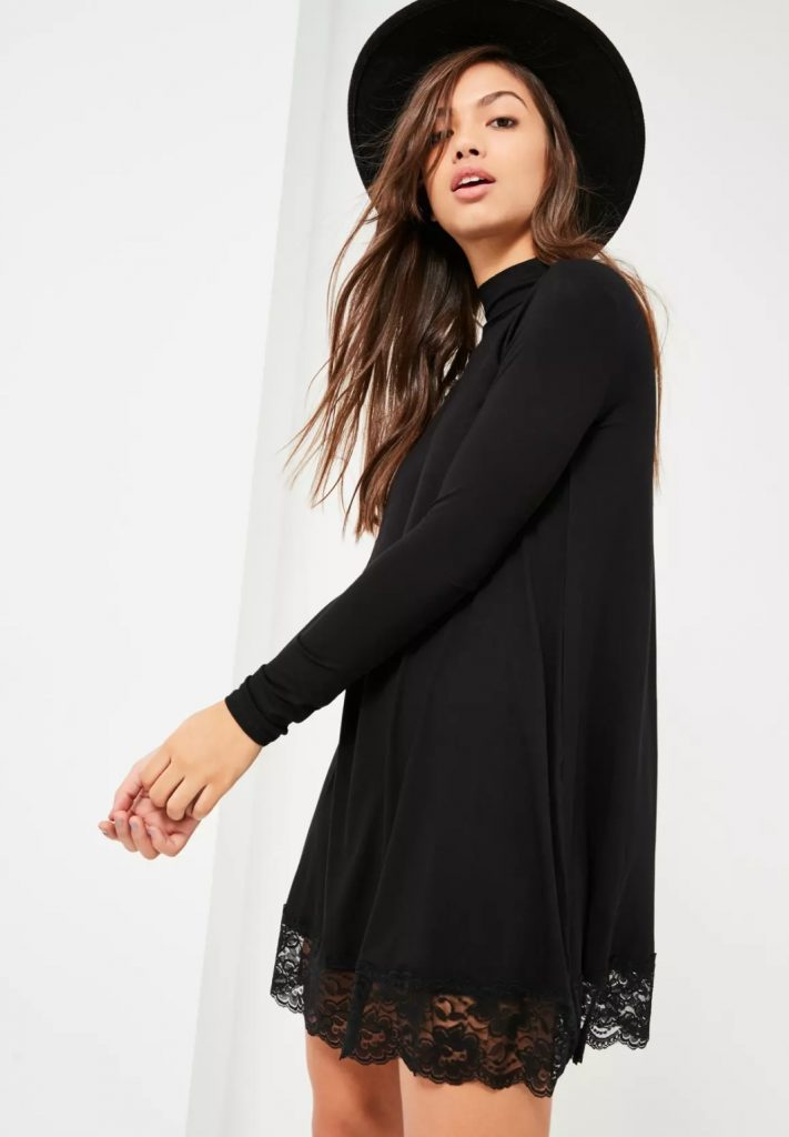 Robe noir dentelle Miss Guided