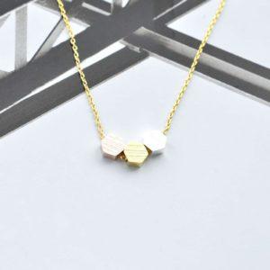 Ma Jolie Bijoux pendentif 3 hexagones - Autour de Marine
