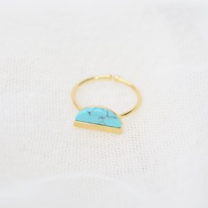 Ma Jolie Bijoux Bague Demi Lune turquoise - Autour de Marine
