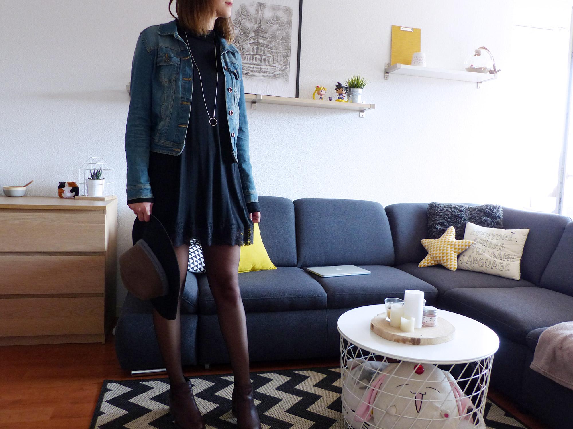 Look d'automne petite robe noire - Autour de Marine