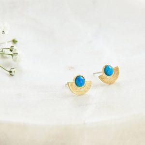 Ma Jolie Bijoux Boucle d'oreilles demi Lune Opale - Autour de Marine