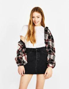 Bershka jupe en jean noir