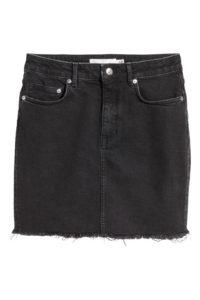 H&M jupe en jean noir - Autour de Marine