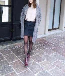 Look Jupe en jean noir - Autour de Marine