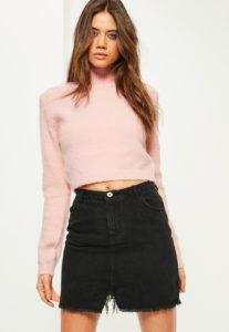 Missguided jupe en jean noir - Autour de Marine