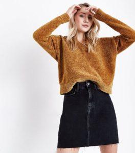 Newlook jupe en jean noir