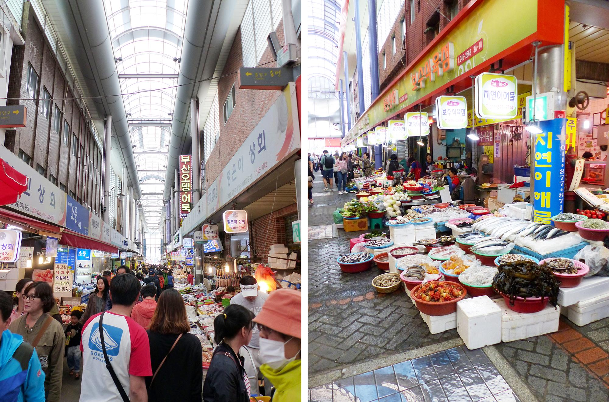 Gukje market Busan - Autour de Marine