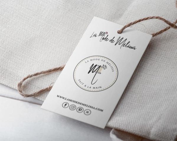Réalisation étiquette de vêtements La Mode de Mélissa