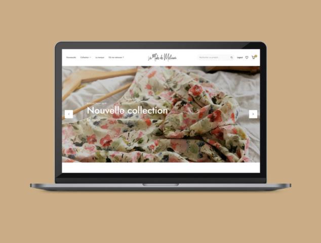 Réalisation site web La Mode de Mélissa