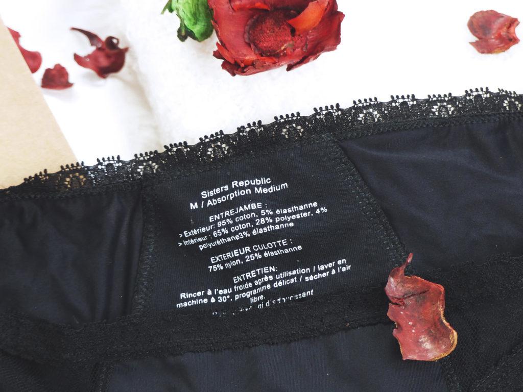 Les culottes menstruelles Sister Republic