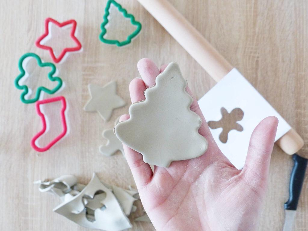DIY Noël, décoration sapin argile
