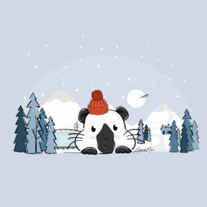 Illustration chonchon d'hiver