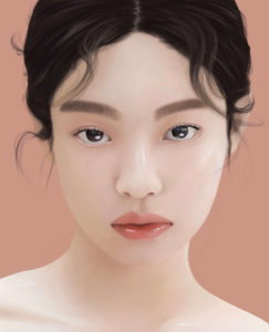 Illustration portrait Jennie, Blackpink